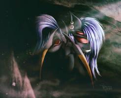 Art trade - Blackarachnia by Ferasor