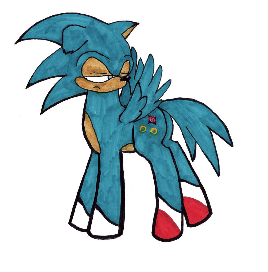 Sonic iz bes poni by nikkirock211