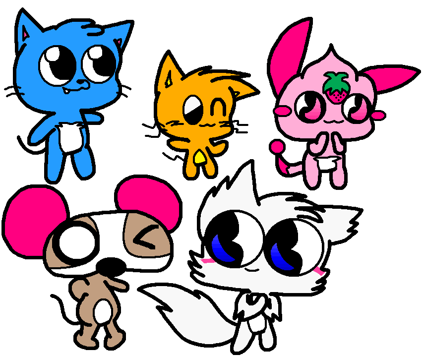 A bunch of adorable little critters by Bomberdrawer