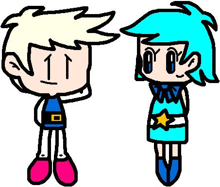 Shiro and Aqua gijinka by Bomberdrawer