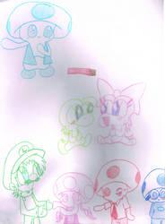 Super Mario luv by Bomberdrawer
