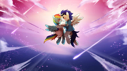 Rainbow Factory Dash And Soarin by MeownsterSSS