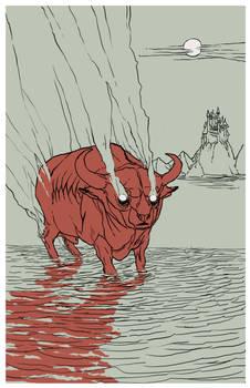 King Haggard's Red Bull by rachelroach