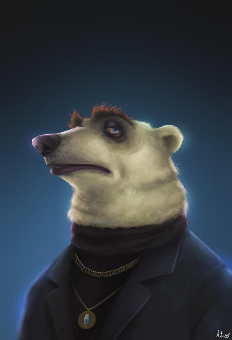 Mafia Bear Zootopia fan art by Anto-Z
