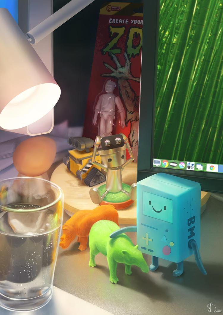 My Desk by Anto-Z