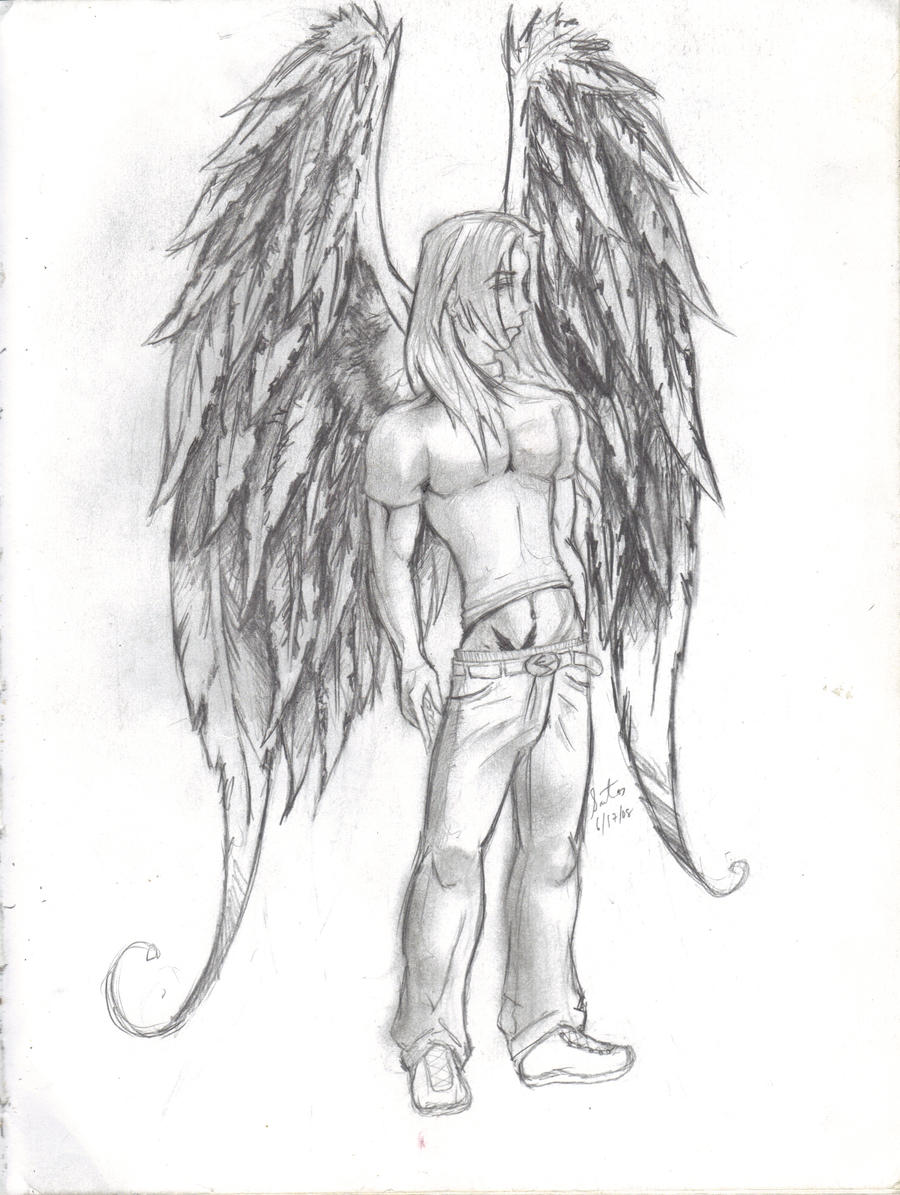 depressed angel drawings - photo #23