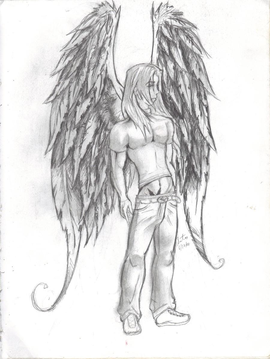 depressed angel drawings - photo #23