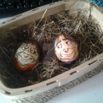 Rumple eggs in the basket XD