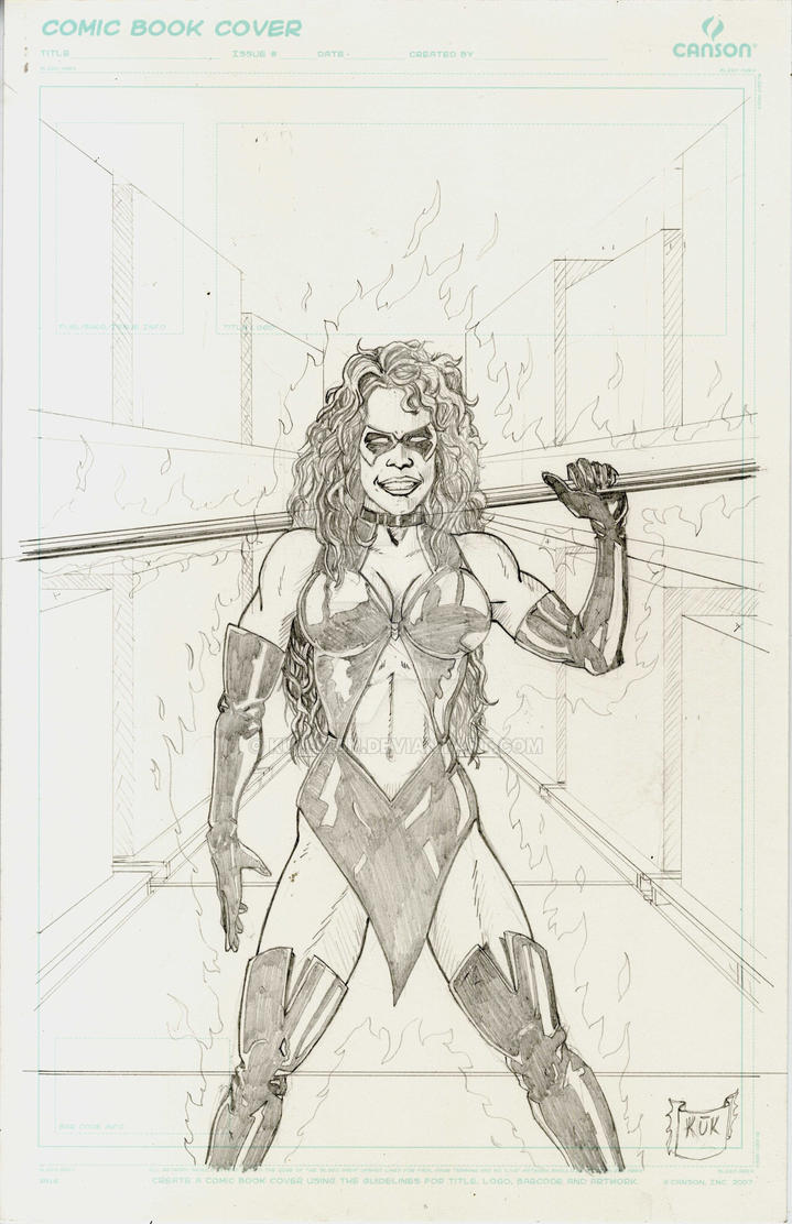 Faux Cover Sketch for Dandie Shantastic #1 by Kuk-Man