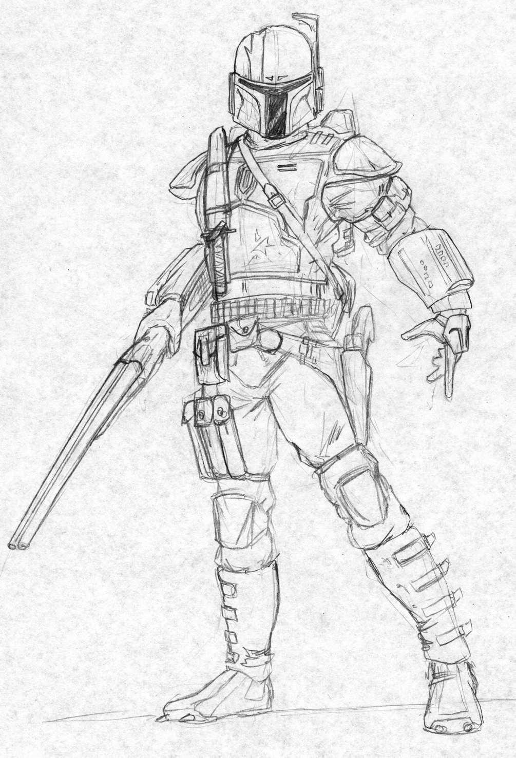Mandalorian Slug-gunner by Kuk-Man