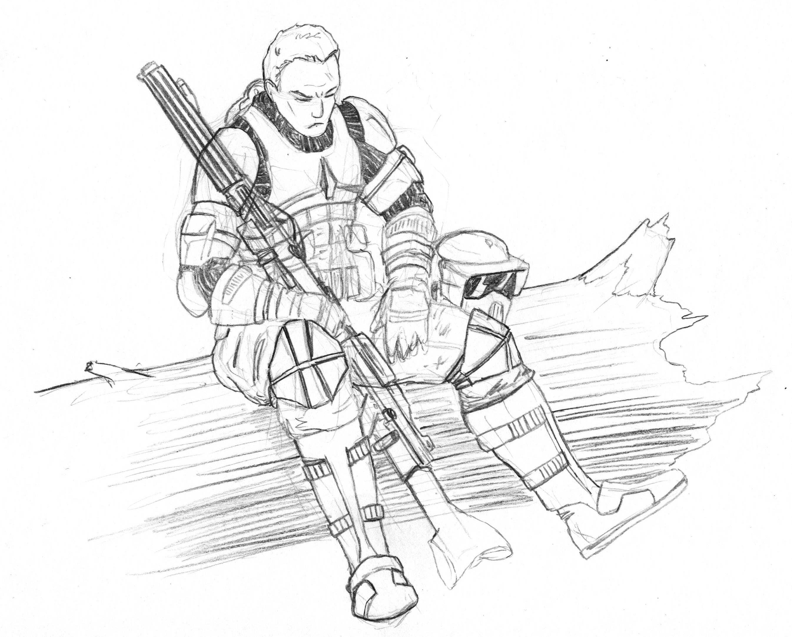 Clone at rest by kuk man on deviantart for Clone trooper coloring pages