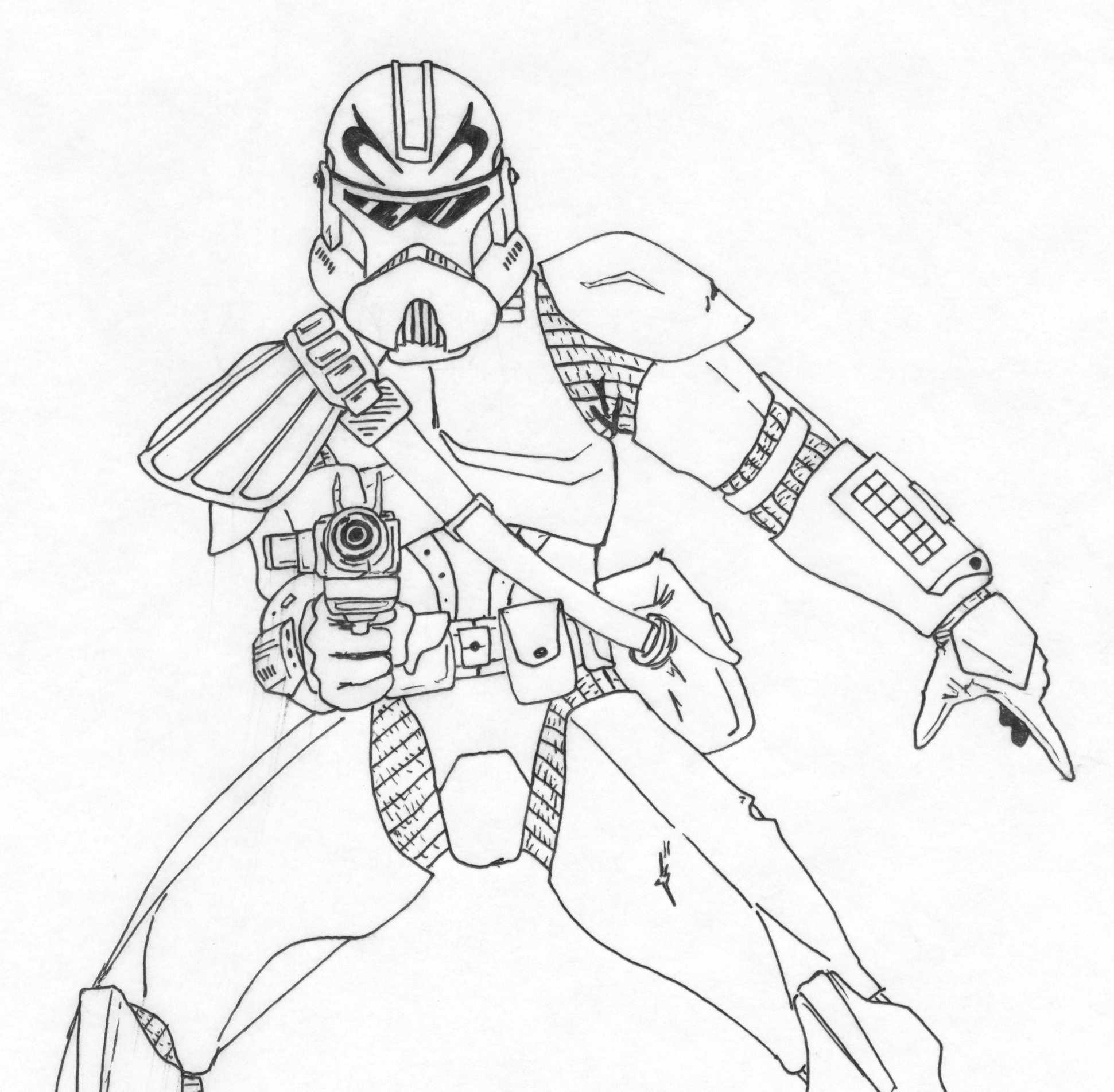 clone commander gree coloring pages - photo#18