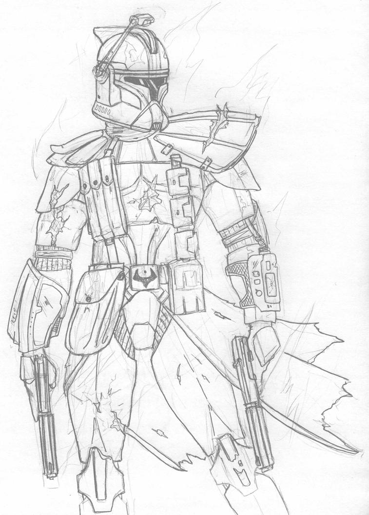 Clone trooper commander cody coloring pages coloring pages for Clone trooper coloring pages