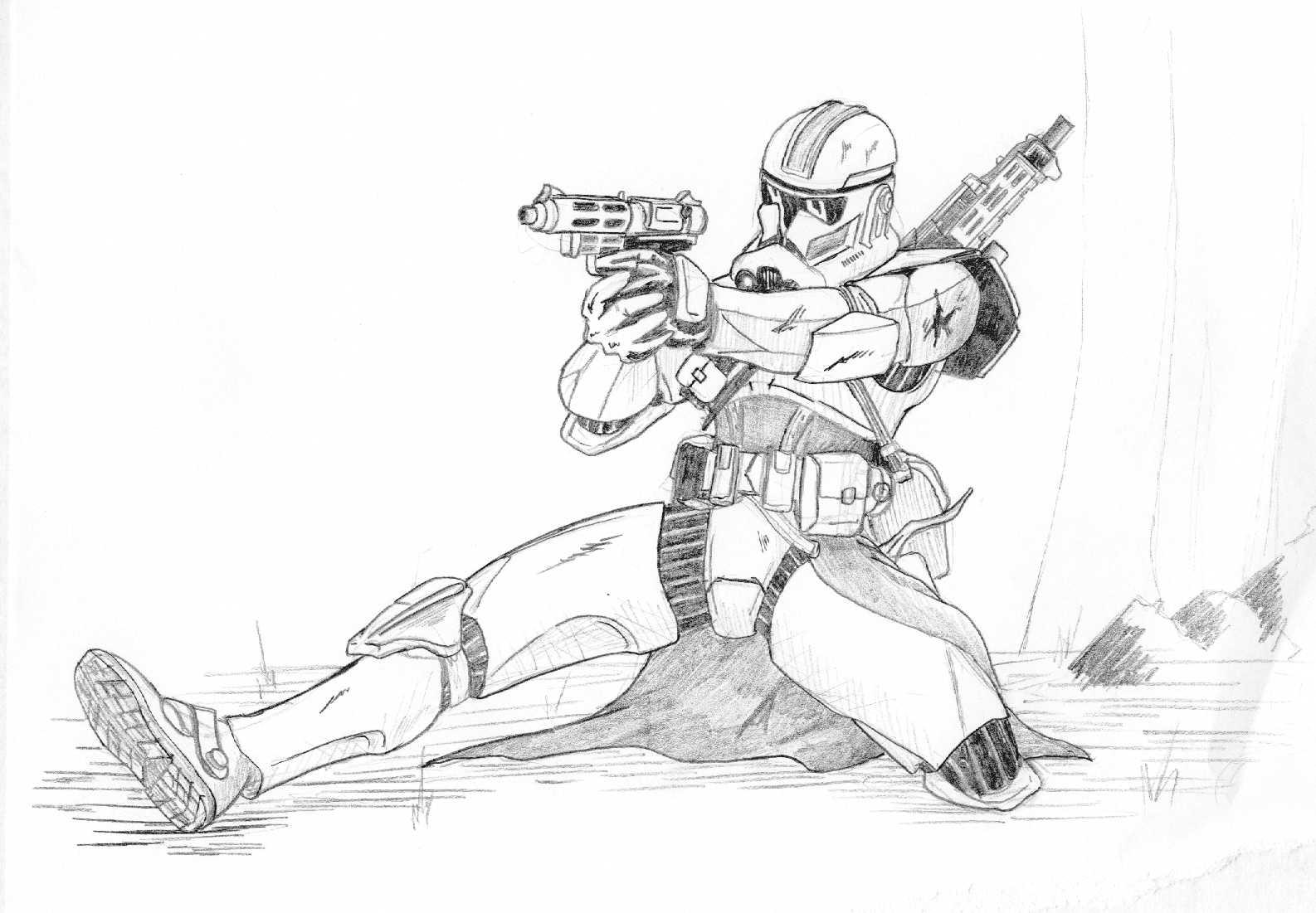 clone coloring pages - clone with pistol by kuk man on deviantart