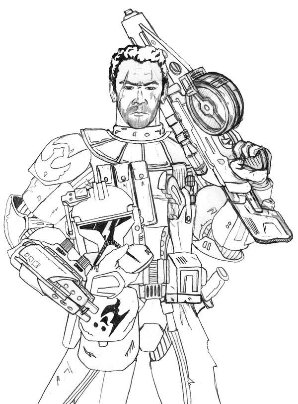 Star Wars Rebel Trooper Coloring Pages Sketch Coloring Page