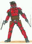 Mando pistolero for RPG- red
