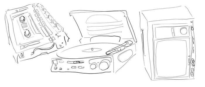 80s AV Sketch