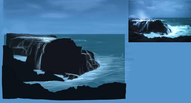 Sea Rocks Sketch