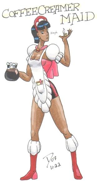 Coffee Creamer Maid by dvandom