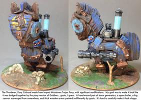 Pony Warmachine: The Thunderer Colossal by dvandom