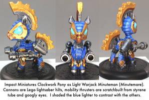 Pony Warmachine: Minuteman (Minutemare) by dvandom