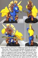 Pony Warmachine: Warcaster Adept Brass Swan by dvandom