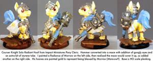 Pony Warmachine: Radiant Hoof Courser Knight Solo by dvandom