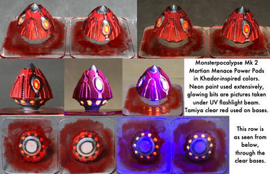 Monsterpocalypse: Martian Power Pods by dvandom