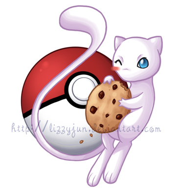 Poke Snax - Mew Cookie by LizzyJun