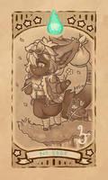 Berry-Bazaar Tarot: 00 The Fool by LizzyJun