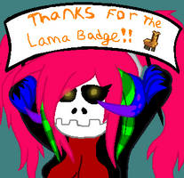 Thanks for the Lama!!! by DeadEMOBaXStabber