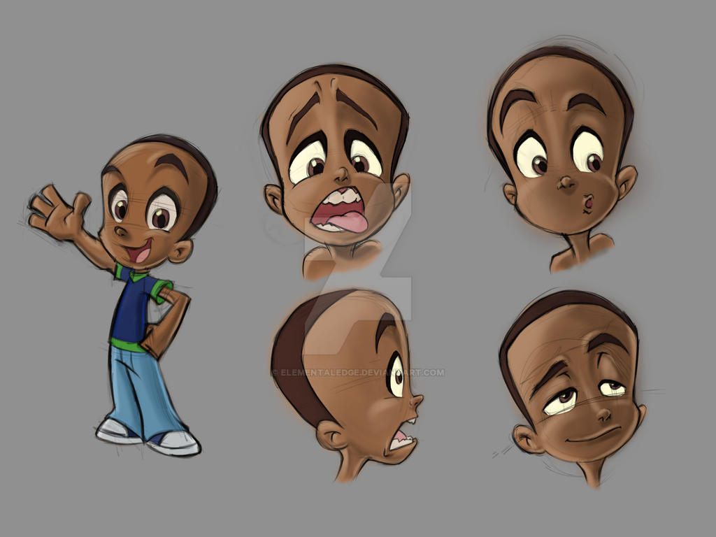 Cartoon Character Design Sheet : Character design sheet for a cartoon ish style ad by