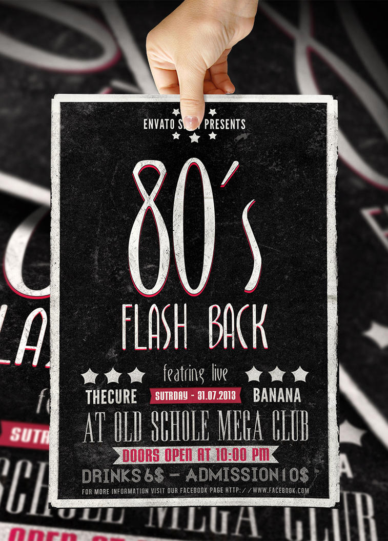 Typography Flyer Vol 1 80s Flashback by bl4ckocreation on – Typography Flyer