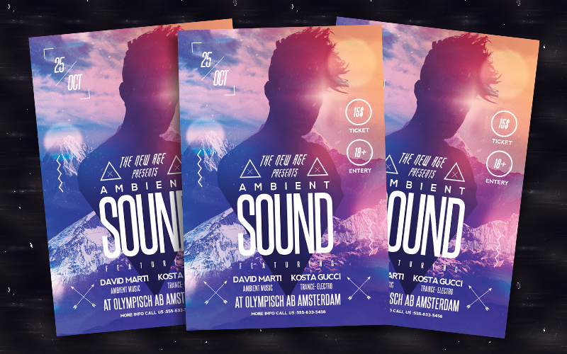 Ambient Sound Flyer by bl4ckocreation