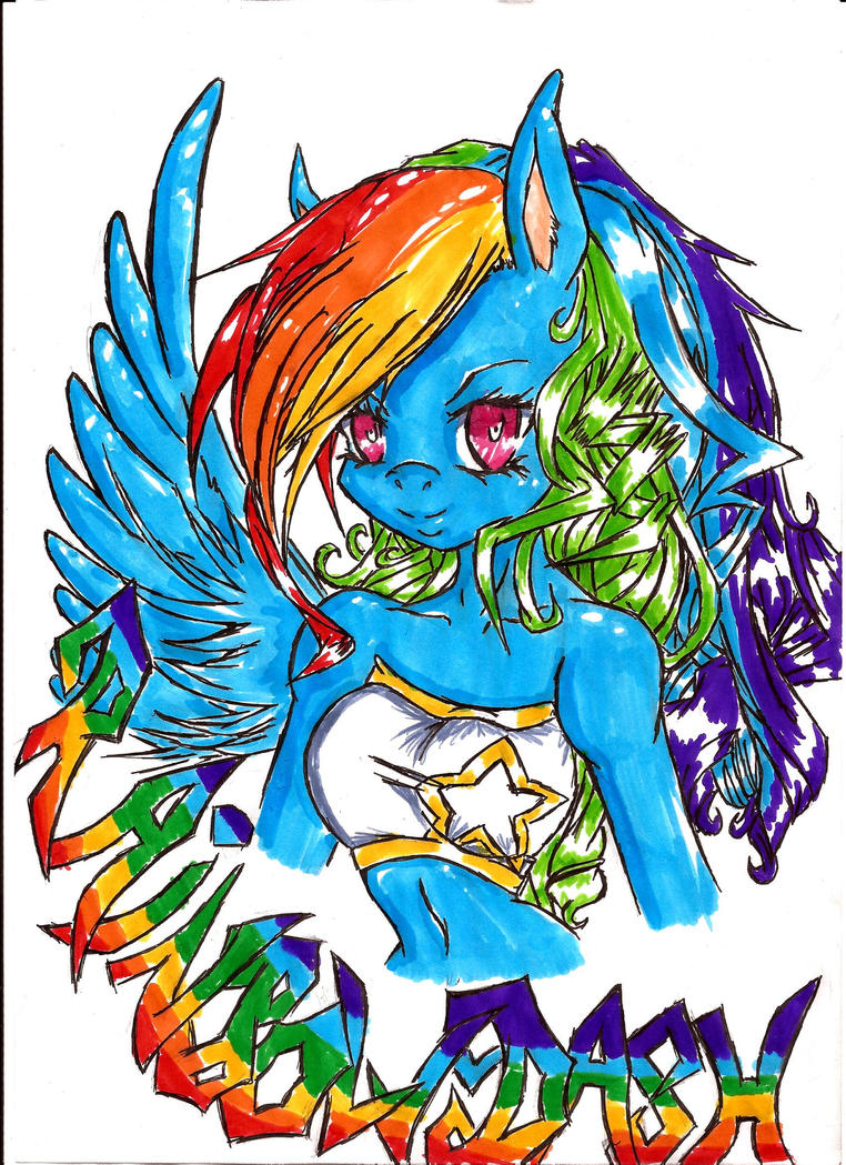 Rainbow Dash by XxLady-MinaxX
