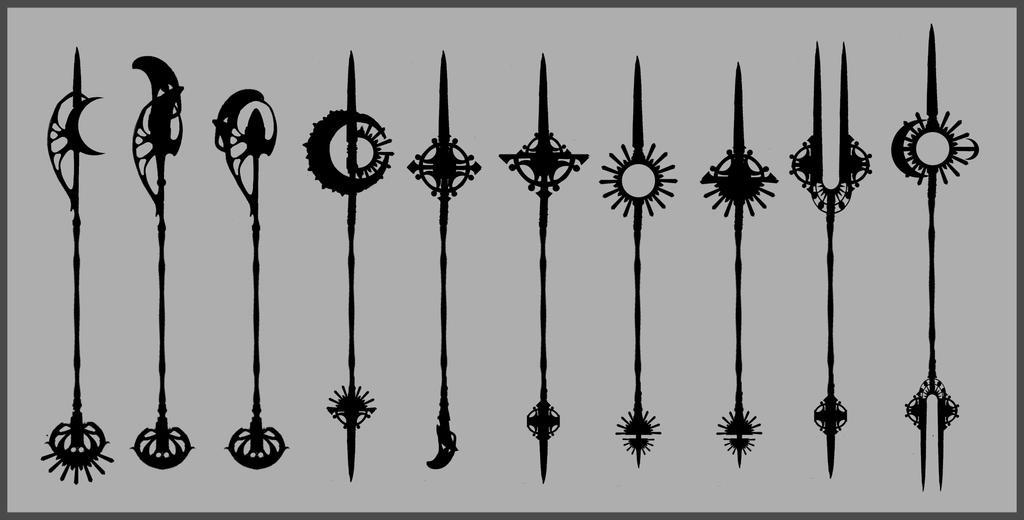Spear Silhouettes by lAchillea