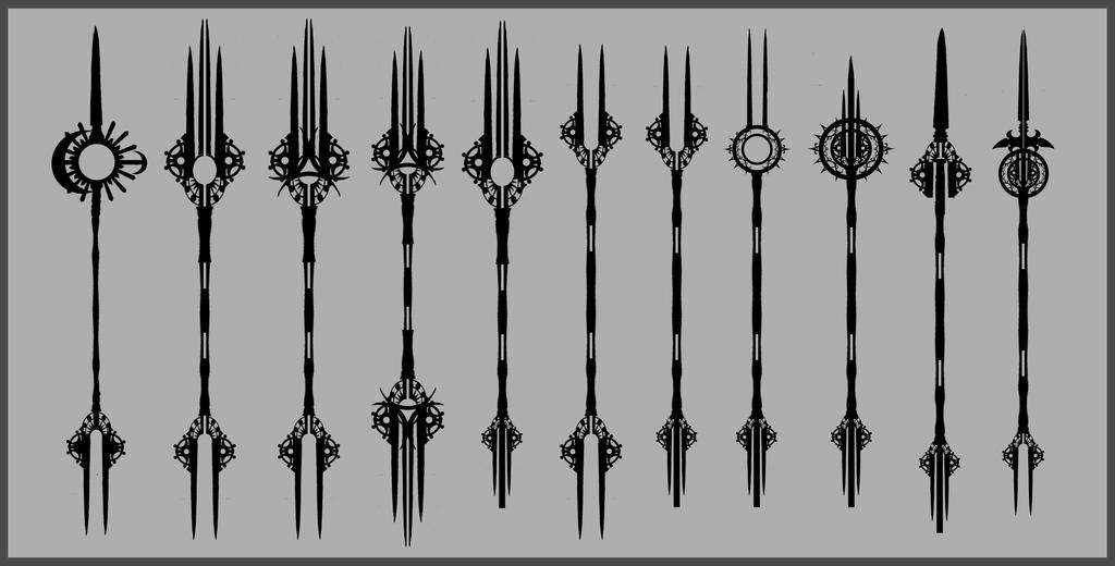 Spear Silhouette Dev I by lAchillea