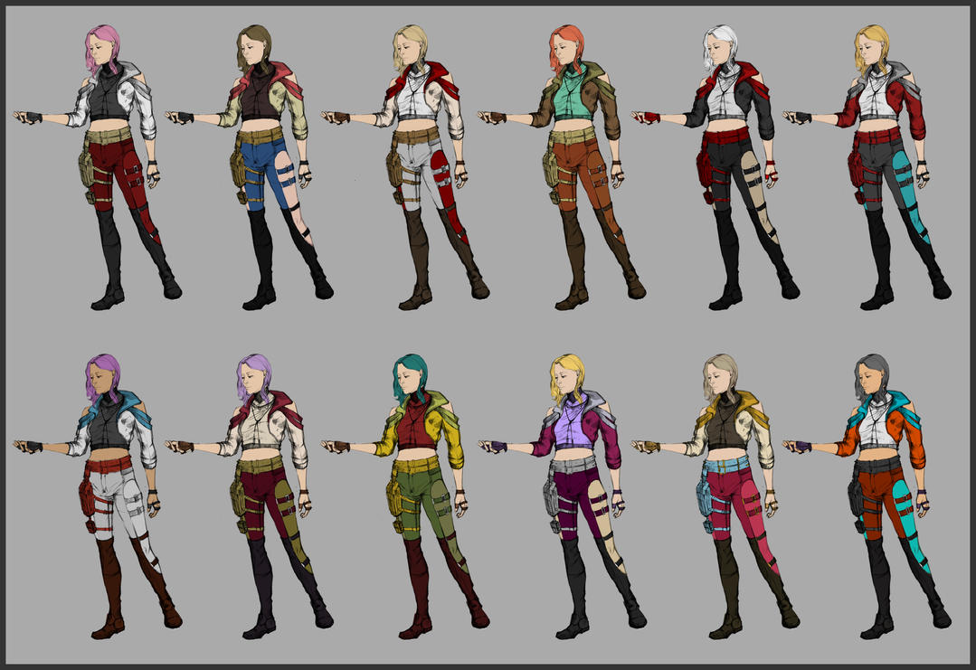 Character No2 Colour Tests by lAchillea
