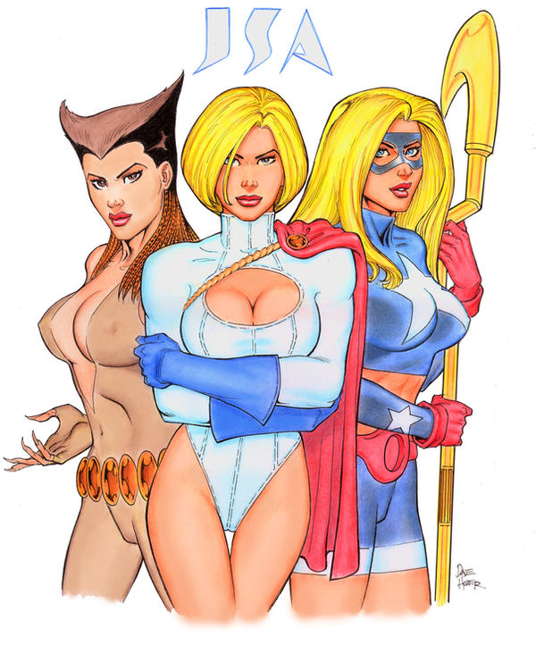 The JSA Girls by Tarzman