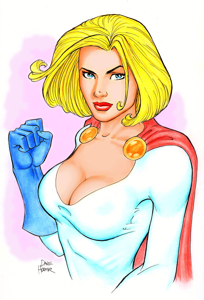 Powergirl Portrait by Tarzman