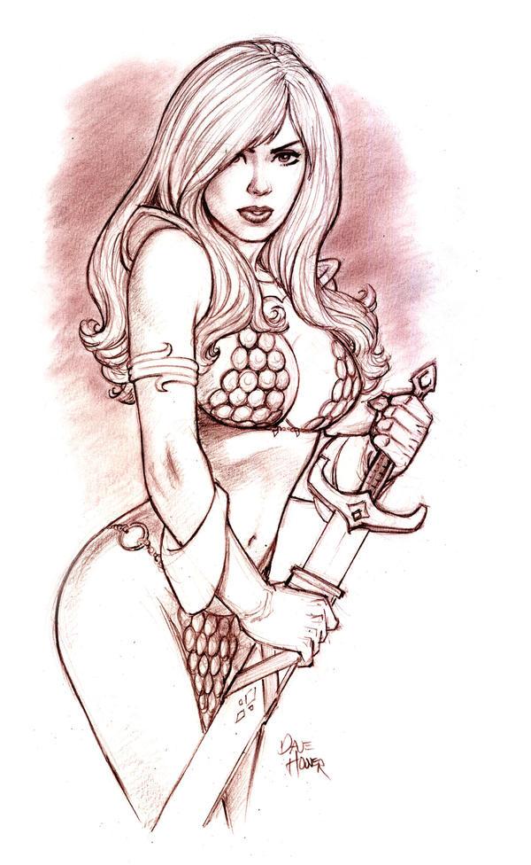 Red Sonja Sketch by Tarzman