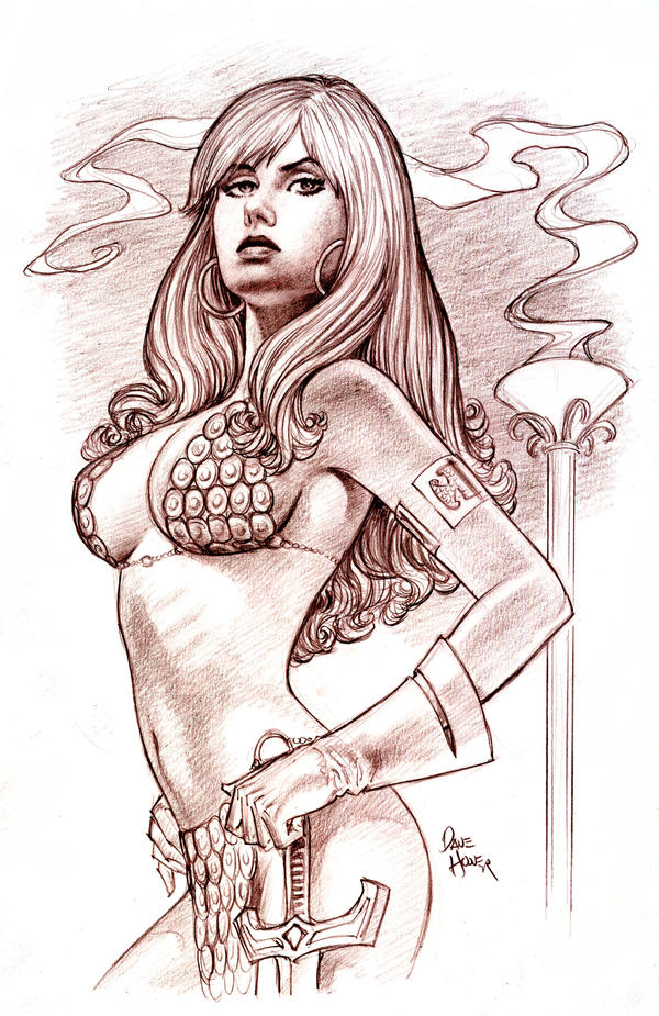 Sonja Sketch 3 by Tarzman
