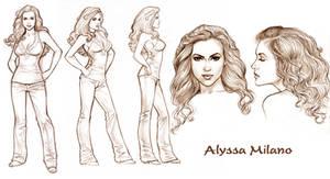Allyssa Milano Model Sheet