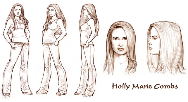 Holly Model Sheet by Tarzman