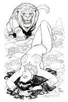 Dejah Thoris Banth Attack by Tarzman