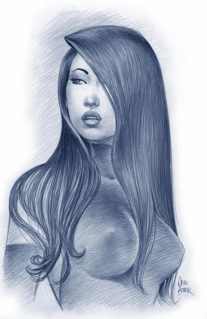 Psylocke Portrait by Tarzman