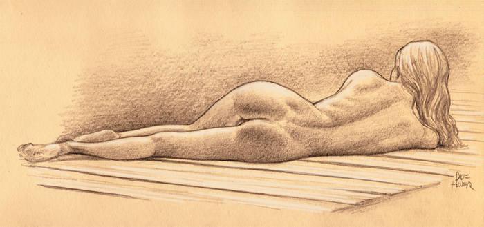 Nude On Dock by Tarzman