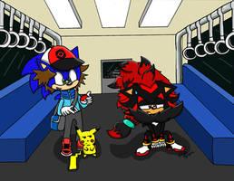 Sonic/pokemon battle subway by cobaltcandi