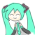 Hatsune Miku face 1 (free use)