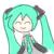 Hatsune Miku face 1 (free use)